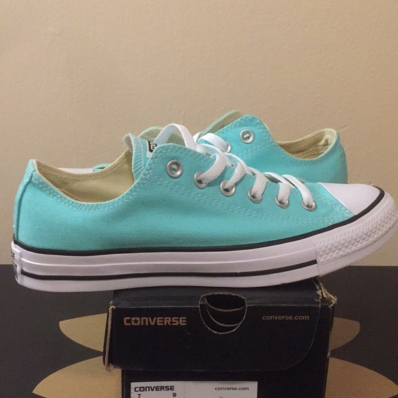 102ed3ed204b Converse Aruba blue teal aqua low white new sz 9